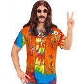 Fotorealistisk Hippie T-shirt (Herr)