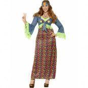 Lady Woodstock Hippie Kostym
