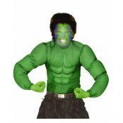 Hulken – Grön Muskeldräkt (Barn)