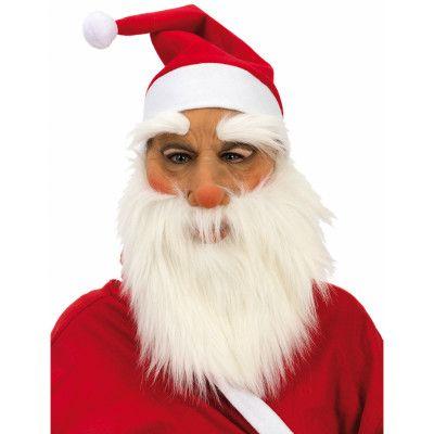 Jultomte Mask med Skägg och Luva