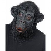 Heltäckande Gorilla Latexmask med Fuskpäls