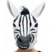 Heltäckande Zebra Latexmask
