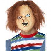 Licensierad Chucky Latexmask med Rött Hår