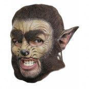Varulv - Heltäckande Lyx Latex Mask med Hår