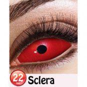 Red Sclera 22 mm Heltäckande Linser