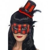 Burlesk hatt och ögonmask ränder