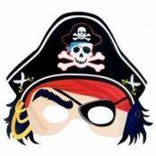 Piratmask med hatt