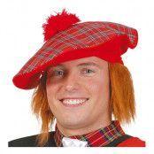 Skotsk Hatt med Hår - One size
