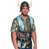 Viking T-Skjorta till Man med Fotorealistiskt Tryck