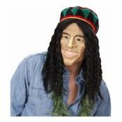 Bob Marley Mask med Flätor