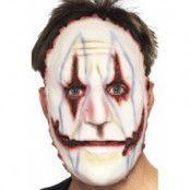 Burned Clown Face Mask White Full Face Latex