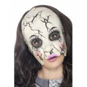 Damaged Doll Mask Multi-Coloured Chinless Latex