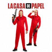 La Casa de Papel  dräkt med mask-XS