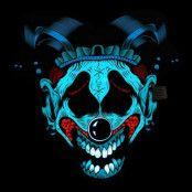 LED Mask Gycklarclown