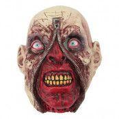 Monster med Dragkedja Latexmask - One size