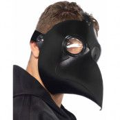 Plague Doctor Mask - Skinnimiterad Svart Mask
