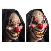 Skräckclown Mask med Rörlig Käke - One size
