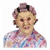 Svärmor Mask med Peruk och Hårrullar - One size