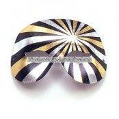 Svart, silver & guldfärgad Domino maskeradmask