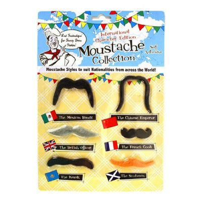 Internationellt Mustaschkit - 6-pack