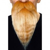 Långt skägg med mustasch  blond