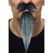 Mustasch med skägg musketör  grå