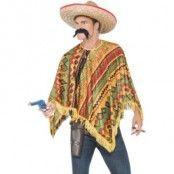 Poncho med mustasch