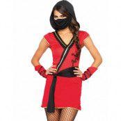 Mystisk Ninja -Dräkt till Dam 4 Delar