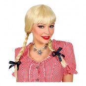 Bavarian Blond Peruk med Flätor - One size