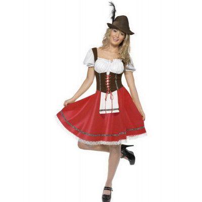 Bayersk Tjänsteflicka - Oktoberfest Kostym
