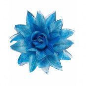 Hårspänne med Elegant Blå Blomma och Glitter