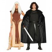 Parkostymer - Game of Thrones Inspirerade Daenerys Targaryen & Jon Snow Kostymer