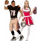 Parkostymer - Superbowl Quarterback och Cheerleader