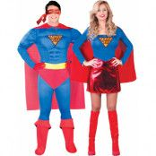 Parkostymer - Supergirl och Superman Inspirerade Kostymer