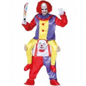 Läskig Clown Piggyback Rideon Dräkt