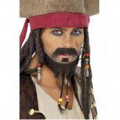 3 Deler Jack Sparrow Pirat Skägg