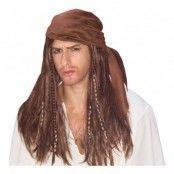 Karibisk Pirat Peruk - One size