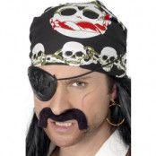 Pirat bandana - röd, svart & vit