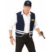 FBI Maskeradset med Väst och Keps