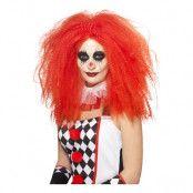 Långhårig Clown Röd Peruk - One size