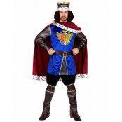Royal King - Dräkt för Man med Mantel och Krona