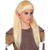 Blond Alv Peruk för Barn med Flätor