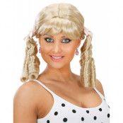 Fröken Oskyldig - blond peruk med band