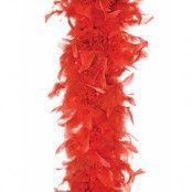 Röd Fjäderboa 180 cm