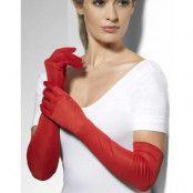 Röda Långa Handskar 52 cm