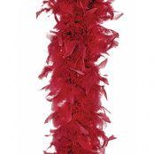 Vinröd Fjäderboa 180 cm