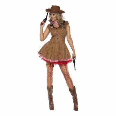 Sexig Vilda Västern Cowgirl Maskeraddräkt