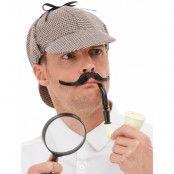 Detektiv Dräktset med Hatt, Pipa och Föstoringsglas