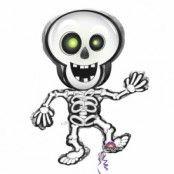 Halloween dansande skelett folieballong - 84 cm