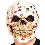 Heltäckande Poker Dödskalle Latexmask